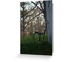 Graveyard Bench Greeting Card