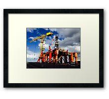 Rig repair Framed Print