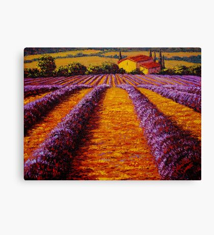 Provence Rolling Hills of Lavender Canvas Print