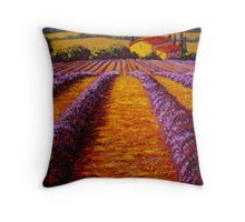 Provence Rolling Hills of Lavender Throw Pillow
