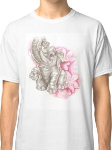 Blue eyes elephant, don´t forget me Classic T-Shirt