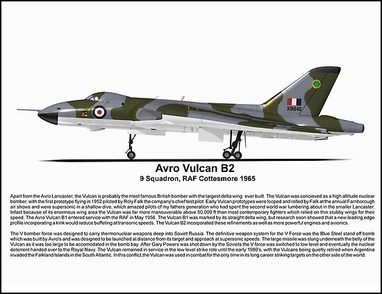Avro Vulcan B2 Profile by coldwarwarrior