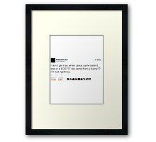 Rapper Tweets #3 - ScHoolboy Q Framed Print
