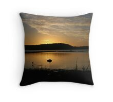 Sunrise at Wilson Inlet Throw Pillow