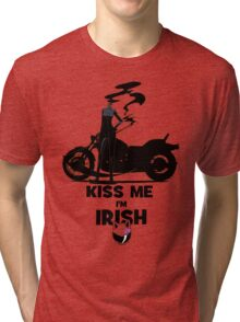 Kiss me I'm Celty Tri-blend T-Shirt