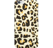 Hipster trendy black gold jaguar animal pattern iPhone Case/Skin