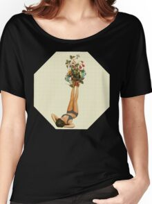 her feet turned into a beautiful bouquet of flowers Women's Relaxed Fit T-Shirt