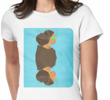 her eyes were none but her heart was as big as her hair Womens Fitted T-Shirt