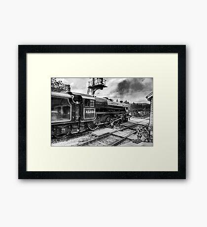 No.45212 Leaving Levisham Station Framed Print