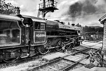No.45212 Leaving Levisham Station by Trevor Kersley