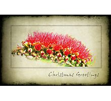 Grungy Christmas Photographic Print