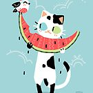 Watermelon Cat by freeminds