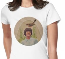 her little bird whispered secrets as they walked Womens Fitted T-Shirt