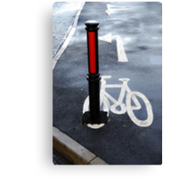 Oops Bike Lane!! Canvas Print