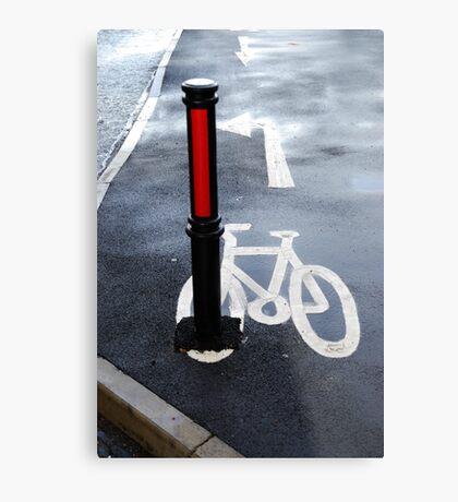 Oops Bike Lane!! Metal Print