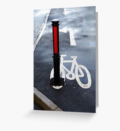 Oops Bike Lane!! Greeting Card