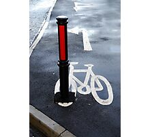 Oops Bike Lane!! Photographic Print
