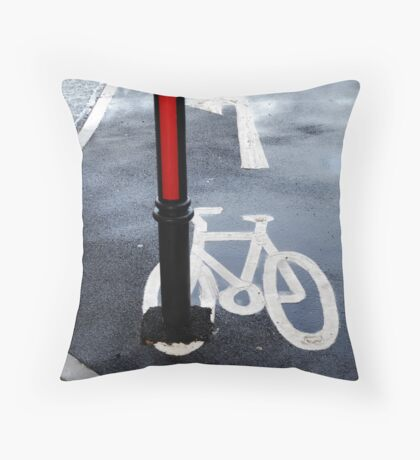 Oops Bike Lane!! Throw Pillow