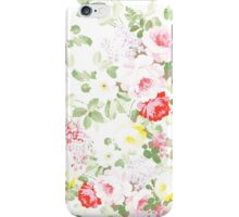 Summer trendy pink red vintage floral pattern iPhone Case/Skin