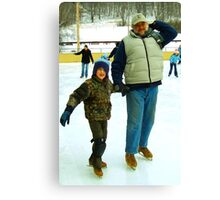 Winter Fun with Dad Canvas Print