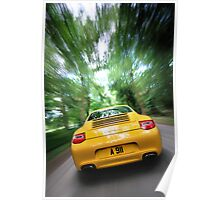Porsche 997 Carrera in motion .... Poster