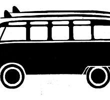 Sp;lit screen surf bus by Sharon Poulton