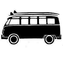 Sp;lit screen surf bus Photographic Print