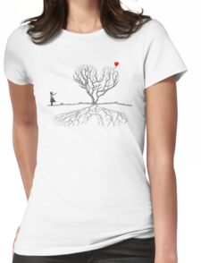 Banksy Heart Tree Womens Fitted T-Shirt