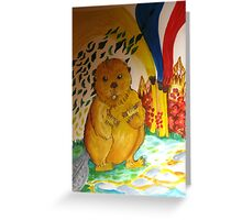 Beaver can paint her own ecosystem Greeting Card