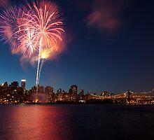 100th Queensborough Bridge  Fireworks by Arianys Wilson