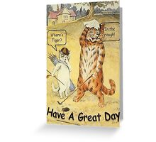 Where's Tiger?   Greeting Card