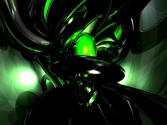 Emerald Nigthmares Abstract by Alexander Butler