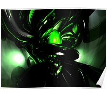 Emerald Nigthmares Abstract Poster