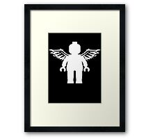 ANGEL MINIFIG Framed Print