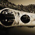 il Ponte del Diavolo, near Lucca, Italy by Andrew Jones