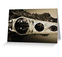 il Ponte del Diavolo, near Lucca, Italy Greeting Card