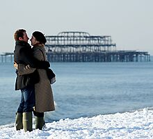 The West Pier in Snowy December by Alixzandra