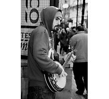 Belfast 6.12.09 - Banjo Busker Photographic Print