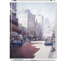 Morning City Light - Watercolor on Paper Painting. iPad Case/Skin