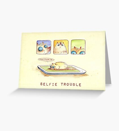 Selfie Trouble Greeting Card