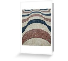 Abstract Tiles Greeting Card