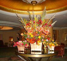 Floral Arrangement, Beverly Hills Hotel by kristalmania