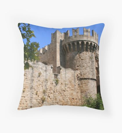 Palace of the Grand Masters in Rhodes Throw Pillow