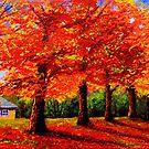 New England Maple Row by sesillie