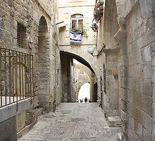 Old Jerusalem street by milzi