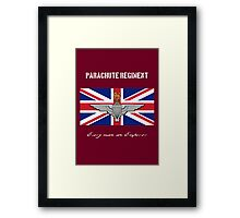 "Parachute Regiment (UK) ""Every Man An Emperor"" Framed Print"