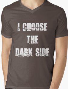 "Funny ""I Choose The Dark Side"" Dark Mens V-Neck T-Shirt"
