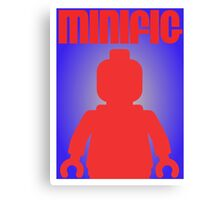 Retro Large Black Minifig, Customize My Minifig Canvas Print