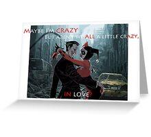 harley quinn X Joker Edit Greeting Card