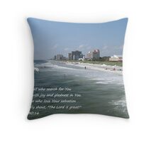 Surf Scene, Jacksonville Beach Throw Pillow